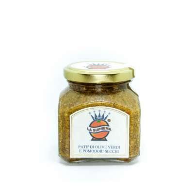Patè di Olive Verdi con Pomodori Secchi